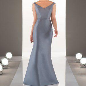 Sorella Vita 8964 Stone Blue Mikado Dress sz10 (14